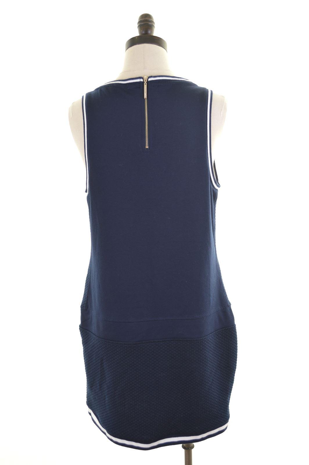 eb7d6b1440b LIU JO Womens Shift Dress Size 14 Large Navy Blue Polyester DE23 | eBay