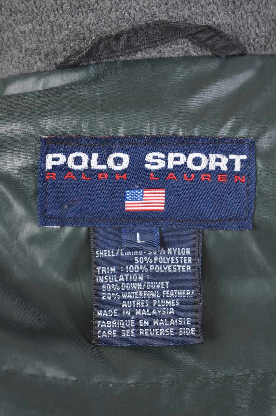 Details Ralph Nylon Lauren Jacket Padded Size 16 Black Polo Dp11 About Large Sport Womens 8mNn0w