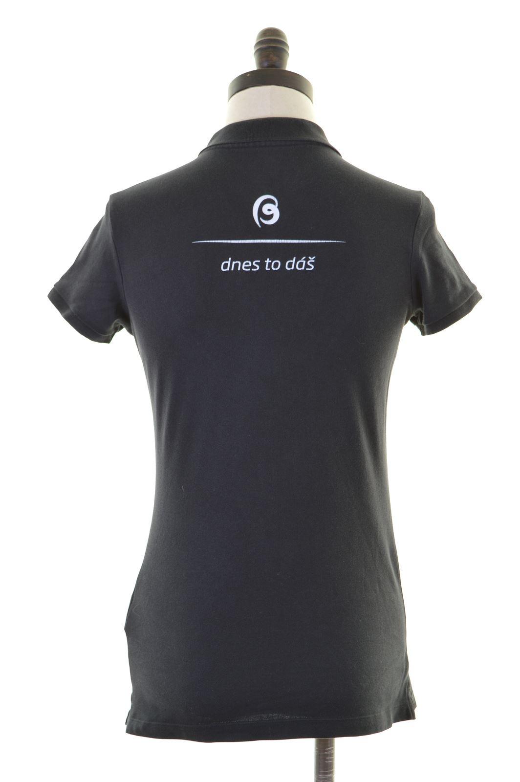 260860f8 NIKE Womens Polo Shirt Size 10 Small Black Cotton | eBay