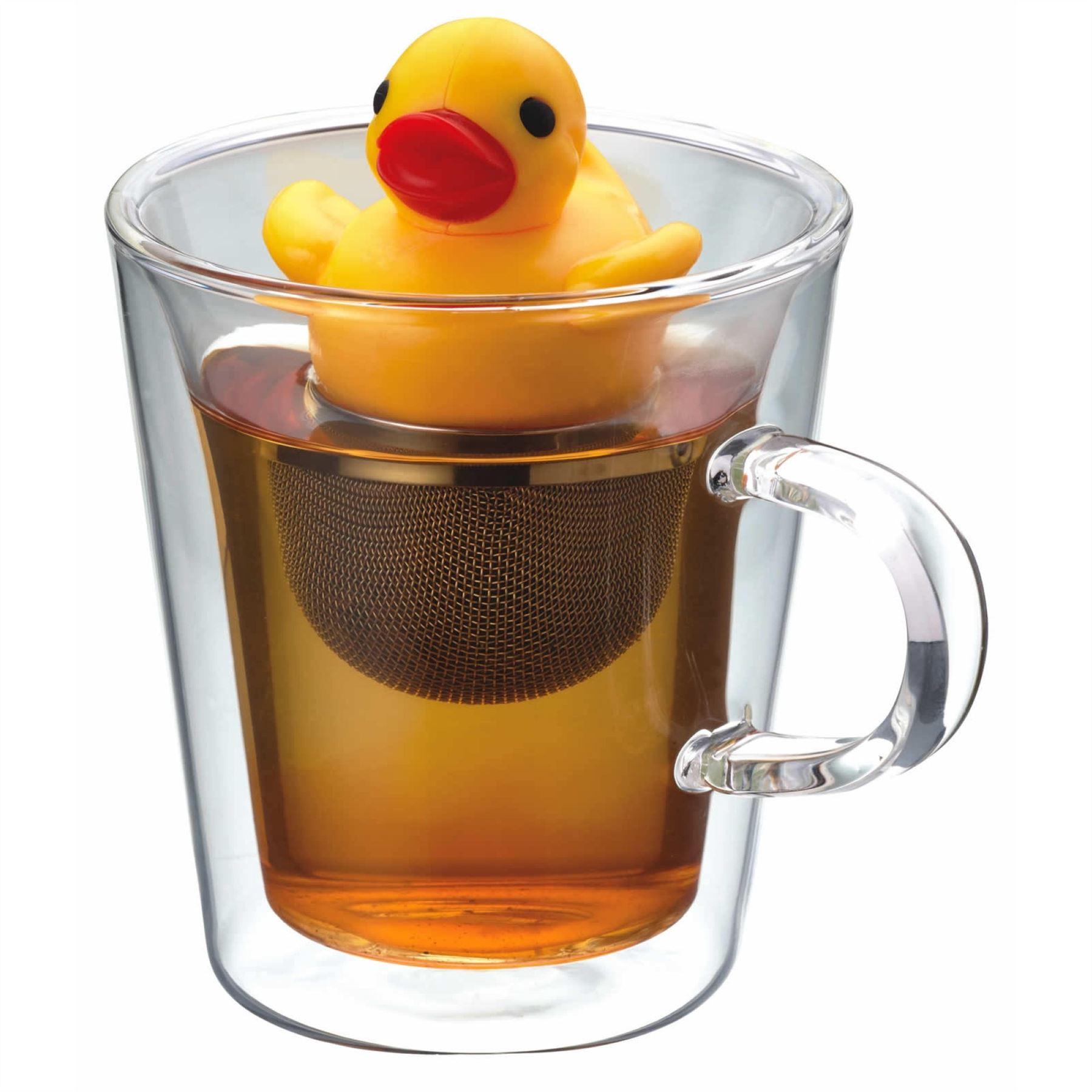 Kitchen Craft Kitsch\'n\'Fun Rubber Duck Floating Quacking Tea Leaf ...