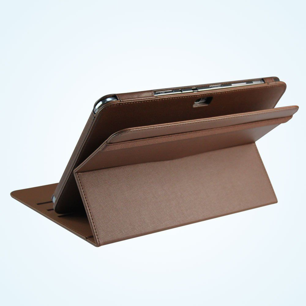 PU-Leather-Rotating-Stand-Case-Cover-for-Samsung-Galaxy-Note-10-1-Tablet-Brown