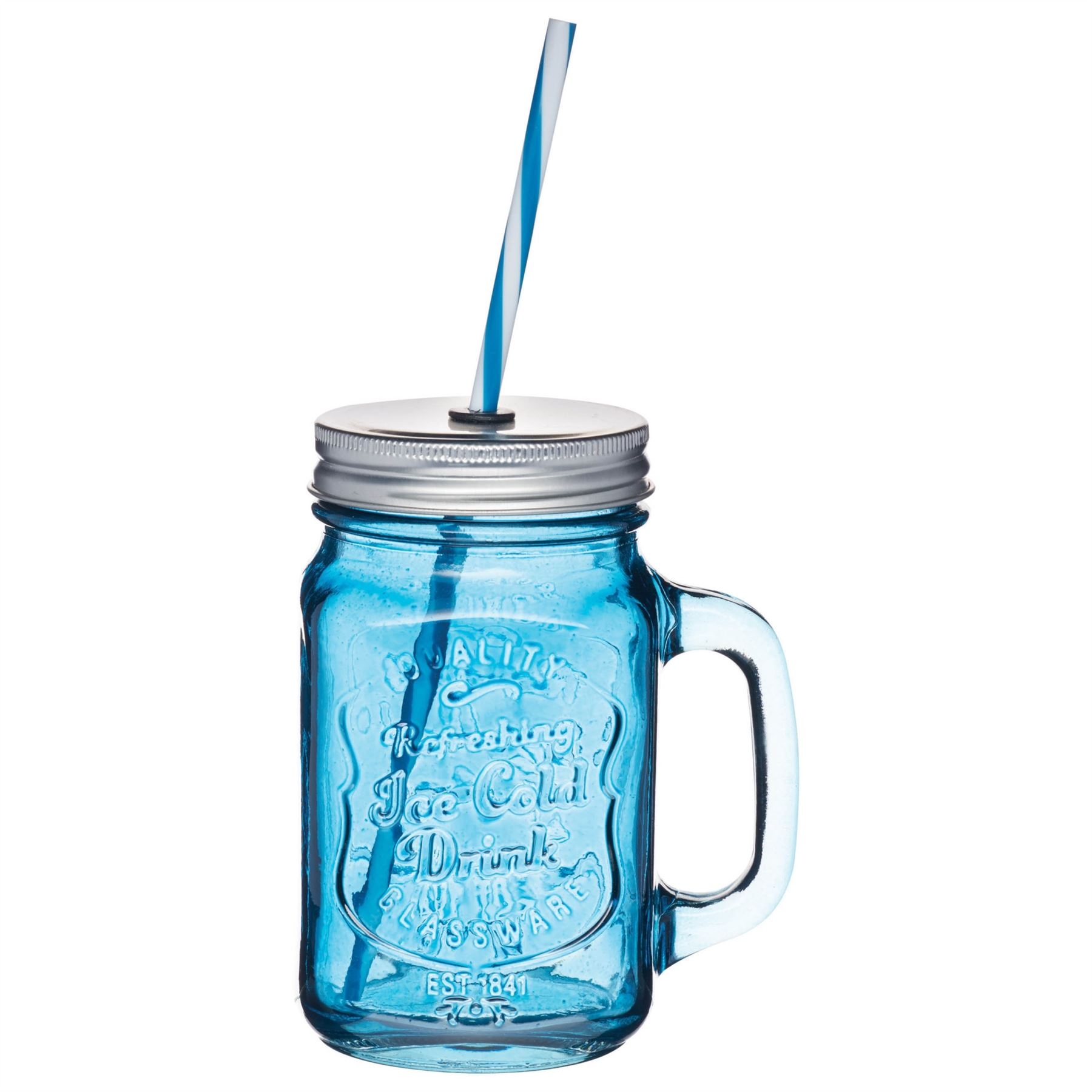 Kitchen Craft Kitchen Craft Home Made Coloured Cocktail Glass Drinks Jar With