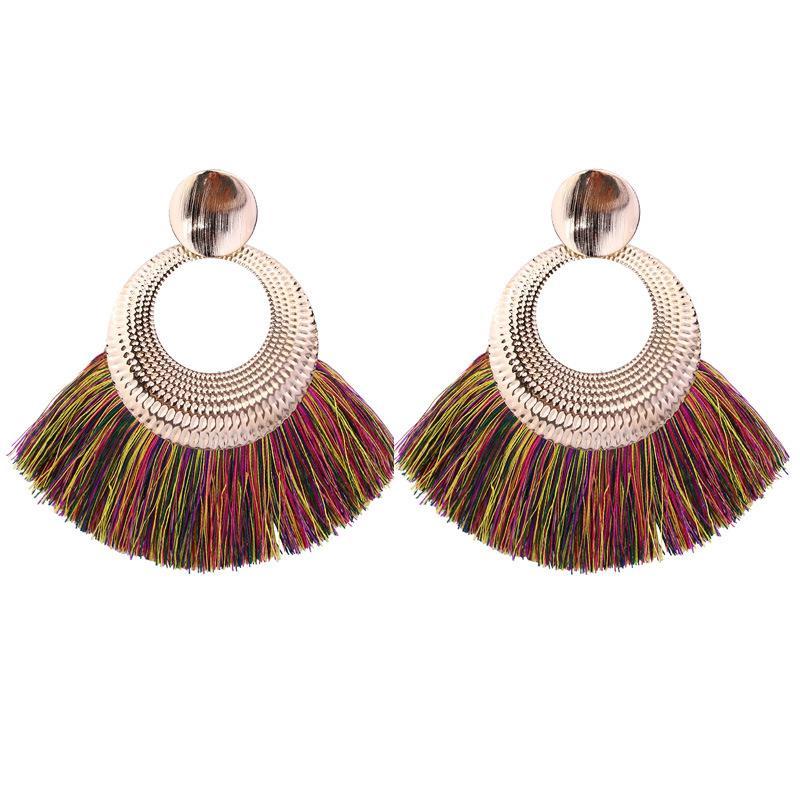 Women-Fashion-Rhinestone-Long-Tassel-Dangle-Earrings-Fringe-Drop-Jewelry-Gift-UK thumbnail 171