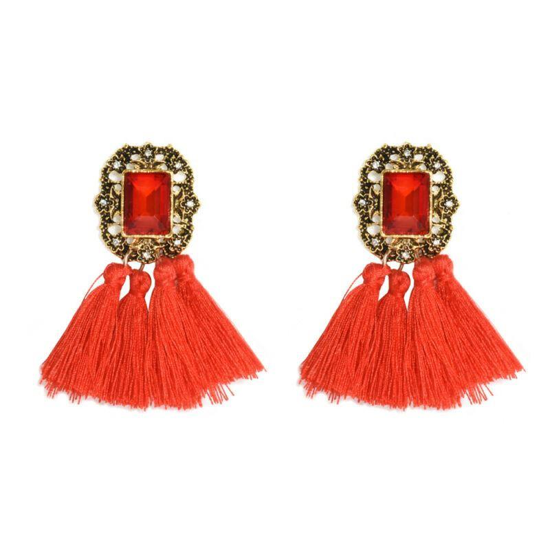 Women-Fashion-Rhinestone-Long-Tassel-Dangle-Earrings-Fringe-Drop-Gift-60-Design thumbnail 52