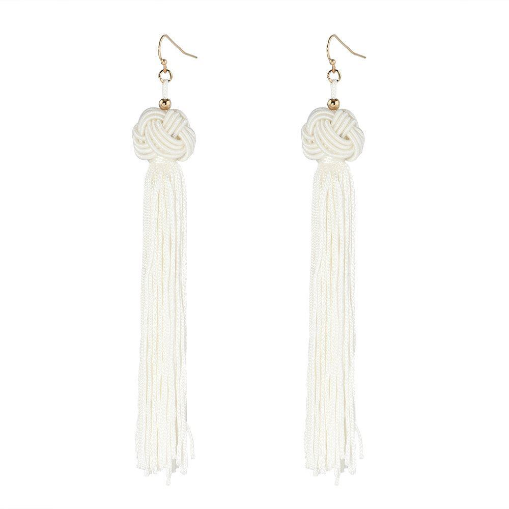 Women-Fashion-Rhinestone-Long-Tassel-Dangle-Earrings-Fringe-Drop-Gift-60-Design thumbnail 82