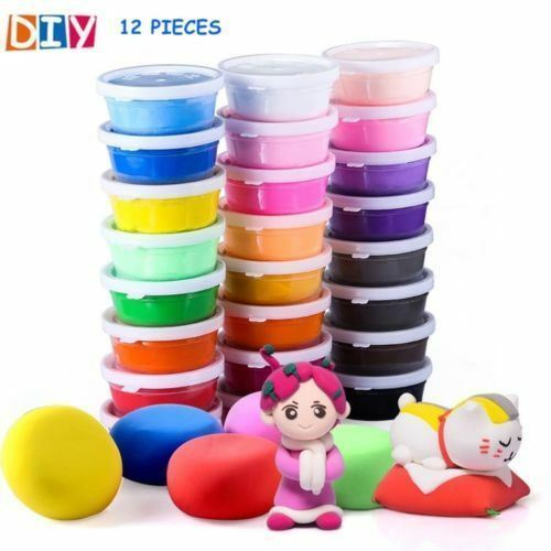 2 Play Dough Doh Set Clay Modelling Craft Tub House Kids Toy Play Mould Creative