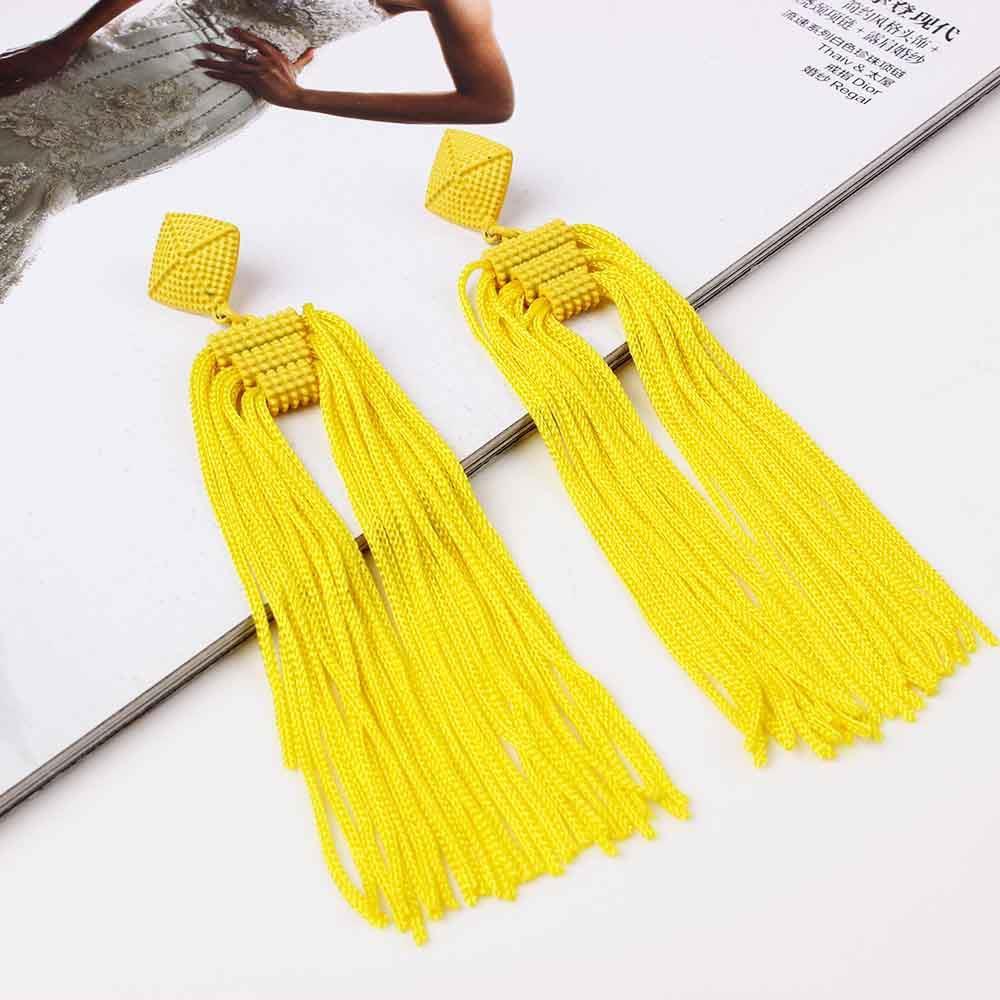 Women-Fashion-Rhinestone-Long-Tassel-Dangle-Earrings-Fringe-Drop-Jewelry-Gift-UK thumbnail 209