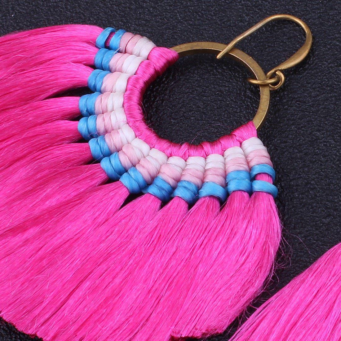 Women-Fashion-Rhinestone-Long-Tassel-Dangle-Earrings-Fringe-Drop-Jewelry-Gift-UK thumbnail 95