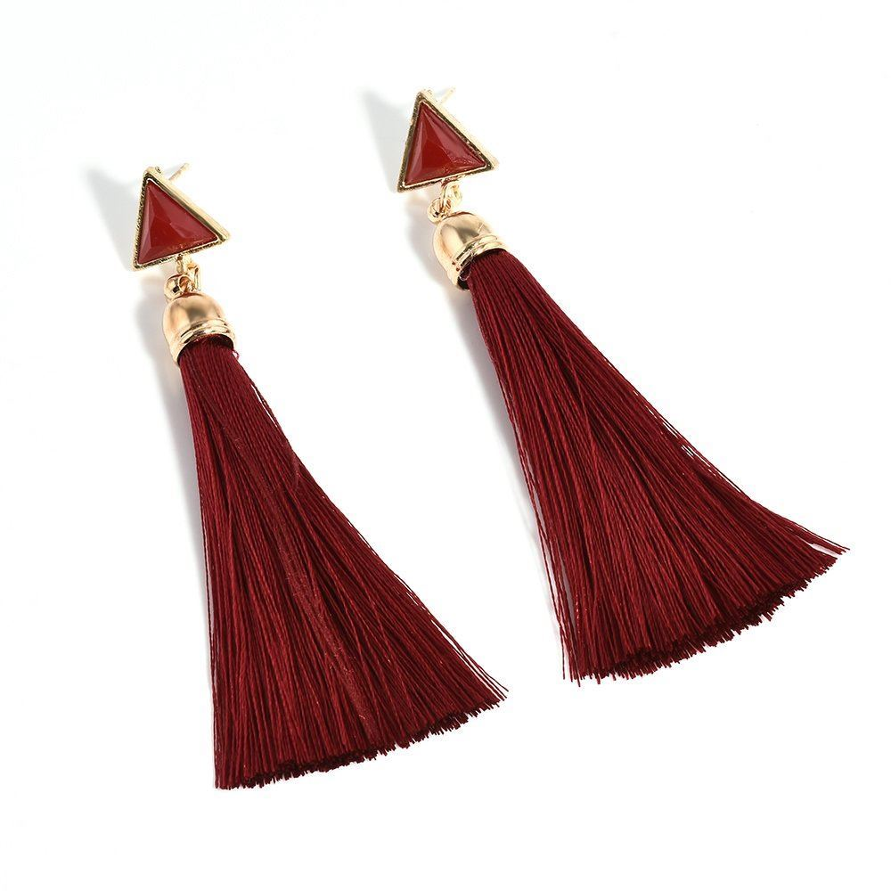 Women-Fashion-Rhinestone-Long-Tassel-Dangle-Earrings-Fringe-Drop-Gift-60-Design thumbnail 62