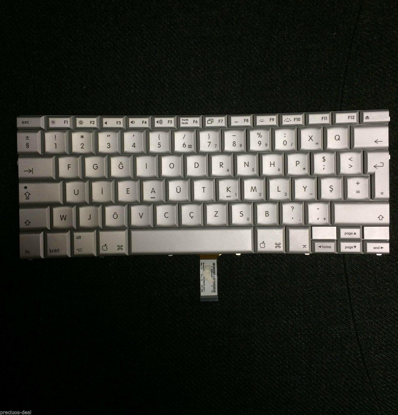 Apple Macbook A1261 Keyboard Turkey Layout Turkish Layout Letters Prints Ebay