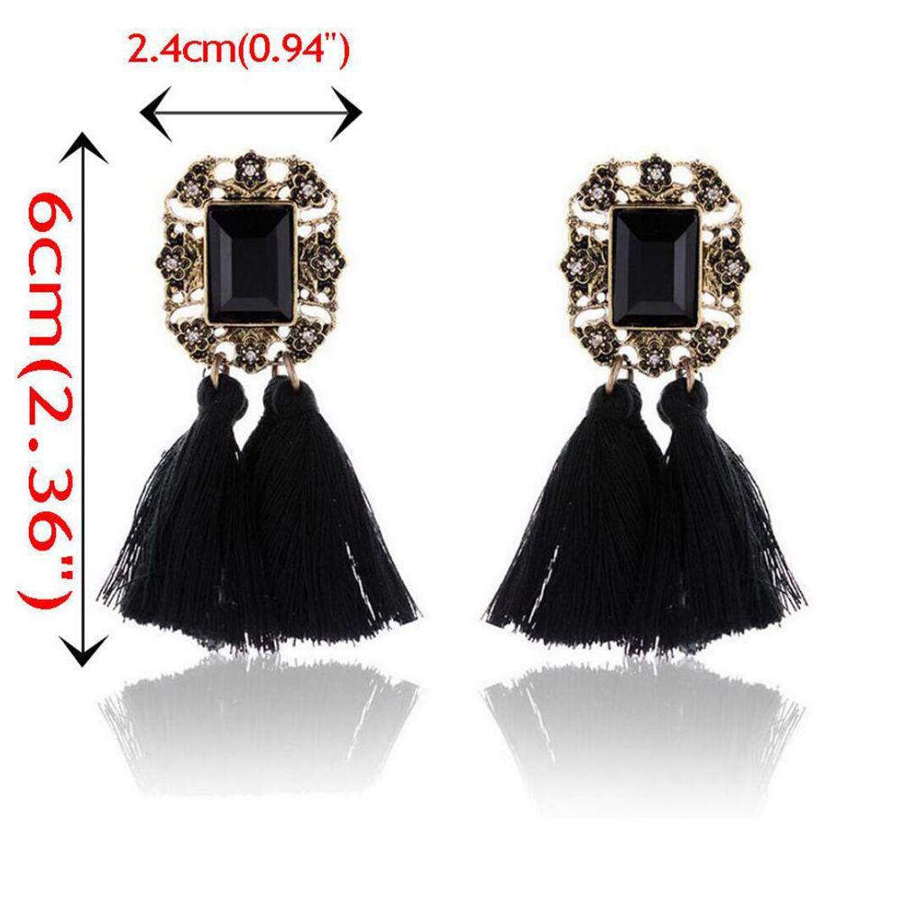Women-Fashion-Rhinestone-Long-Tassel-Dangle-Earrings-Fringe-Drop-Jewelry-Gift-UK thumbnail 77
