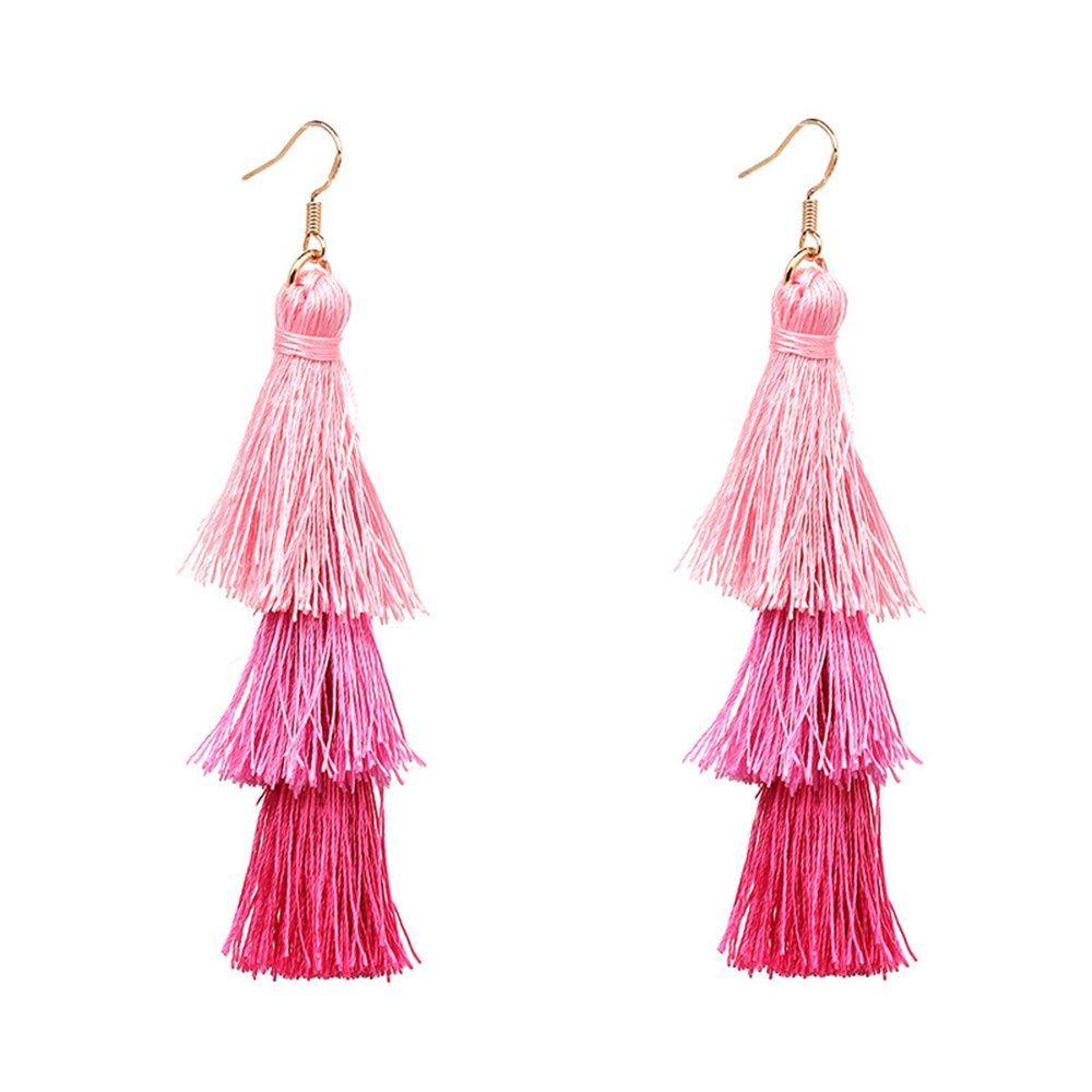 Women-Fashion-Rhinestone-Long-Tassel-Dangle-Earrings-Fringe-Drop-Jewelry-Gift-UK thumbnail 58
