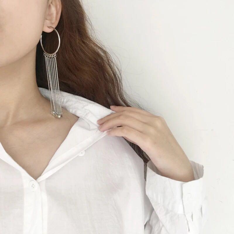 Women-Fashion-Rhinestone-Long-Tassel-Dangle-Earrings-Fringe-Drop-Jewelry-Gift-UK thumbnail 7