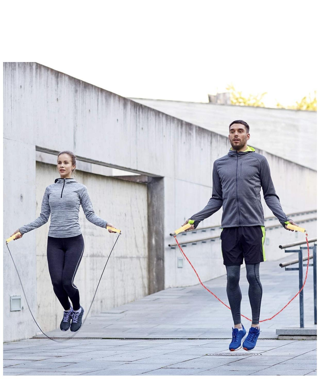 Skipping Rope With Counter Jumping Rope Exercise Gym Fitness Workout Adult Kids