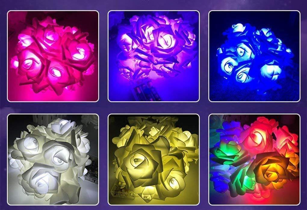 20 led string rose flower starry fairy lights indoor home