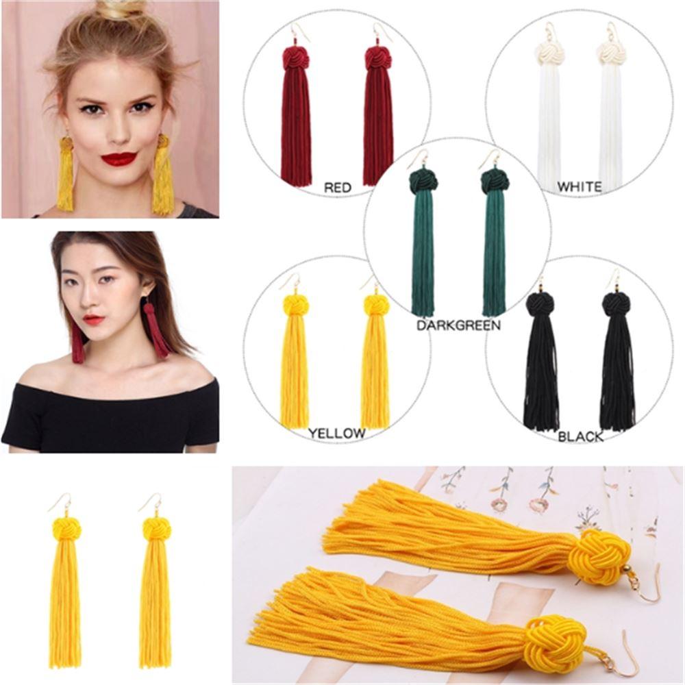 Women-Fashion-Rhinestone-Long-Tassel-Dangle-Earrings-Fringe-Drop-Jewelry-Gift-UK thumbnail 148