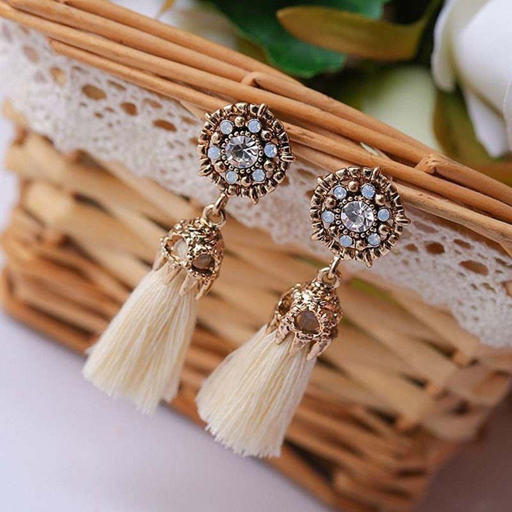Women-Fashion-Rhinestone-Long-Tassel-Dangle-Earrings-Fringe-Drop-Jewelry-Gift-UK thumbnail 33
