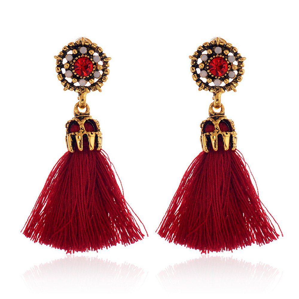 Women-Fashion-Rhinestone-Long-Tassel-Dangle-Earrings-Fringe-Drop-Jewelry-Gift-UK thumbnail 26
