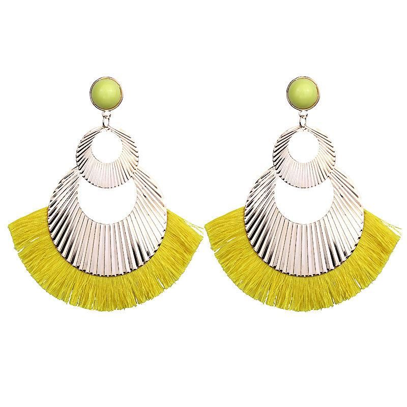 Women-Fashion-Rhinestone-Long-Tassel-Dangle-Earrings-Fringe-Drop-Gift-60-Design thumbnail 109