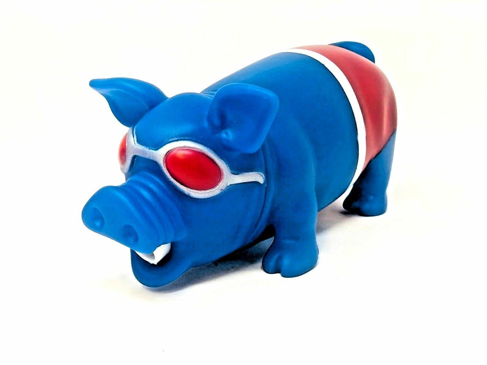 Blue Oinking Sound Making Pig Squeeze Stress Relief Grunting Noise 1 Piece