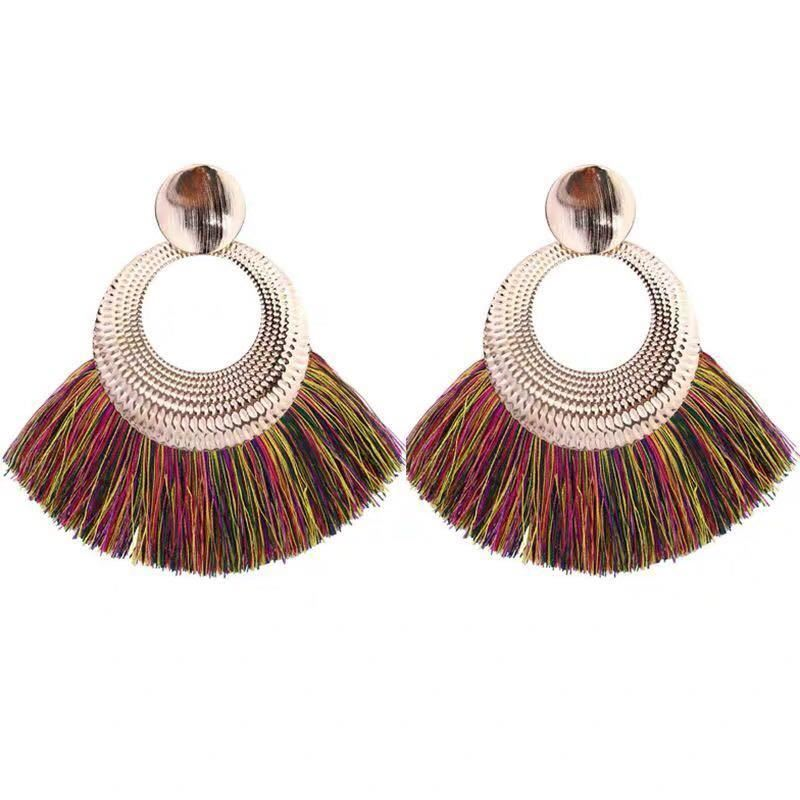 Women-Fashion-Rhinestone-Long-Tassel-Dangle-Earrings-Fringe-Drop-Gift-60-Design thumbnail 93