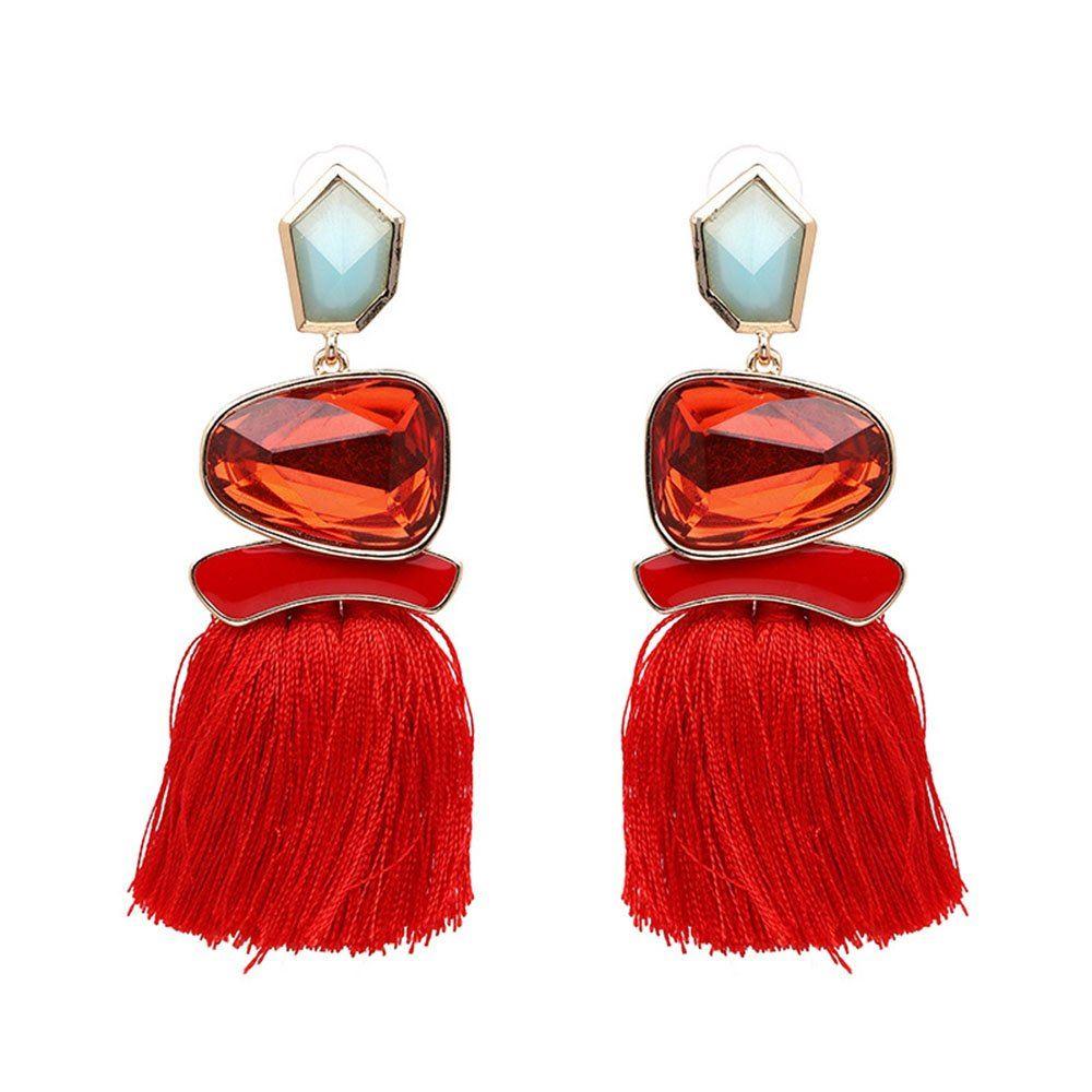 Women-Fashion-Rhinestone-Long-Tassel-Dangle-Earrings-Fringe-Drop-Jewelry-Gift-UK thumbnail 160