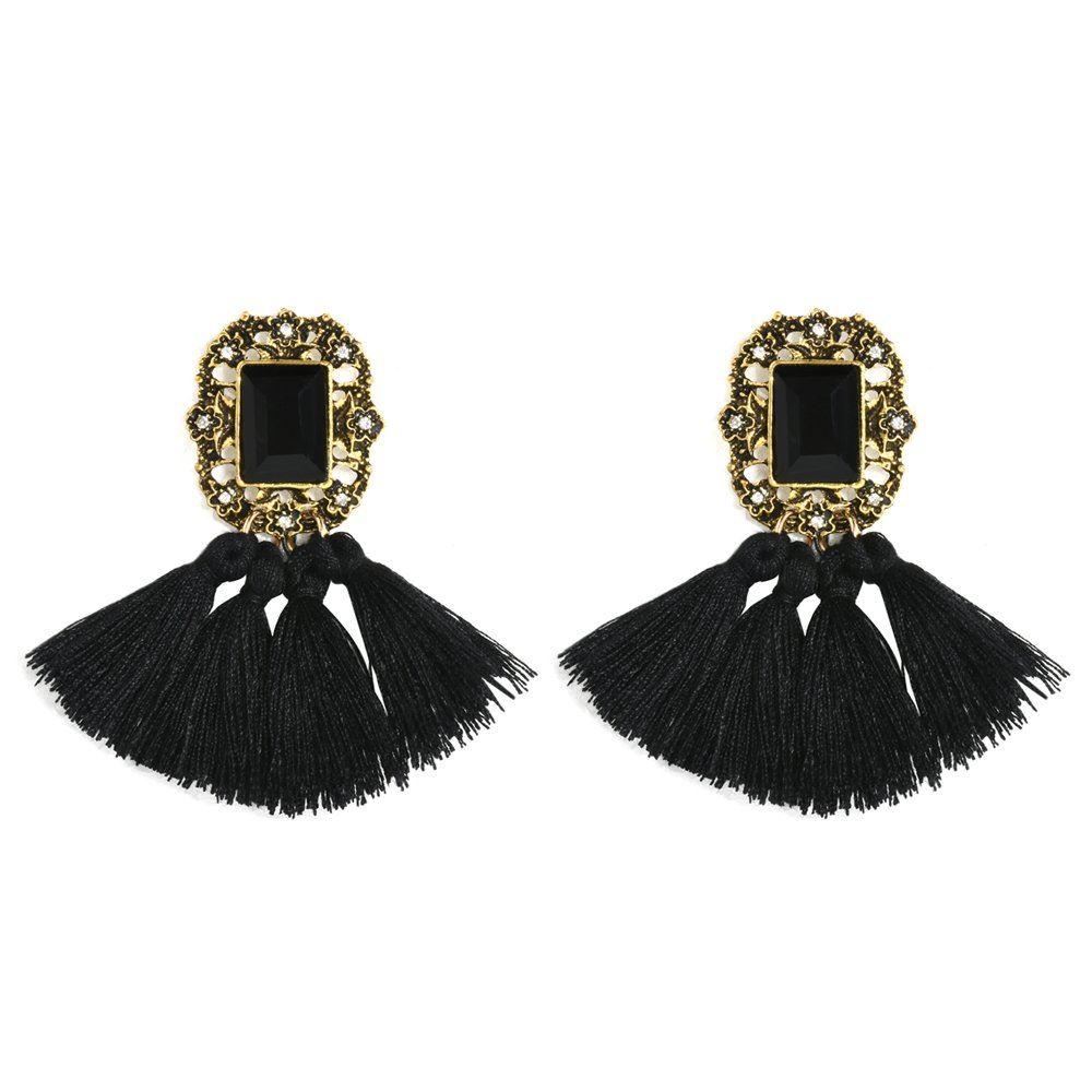 Women-Fashion-Rhinestone-Long-Tassel-Dangle-Earrings-Fringe-Drop-Jewelry-Gift-UK thumbnail 76