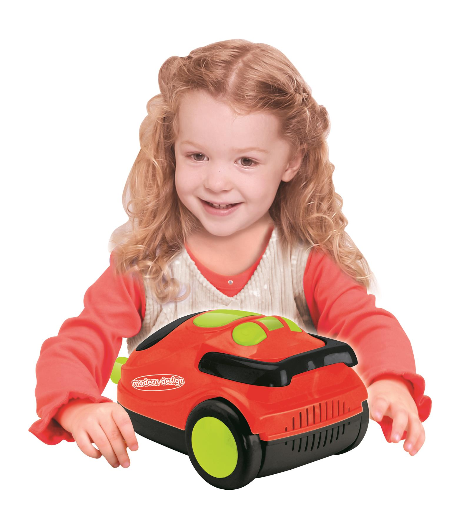Kids Role Play Vacuum Cleaner Hoover Realistic Toy Red with Lights /& Sounds 546