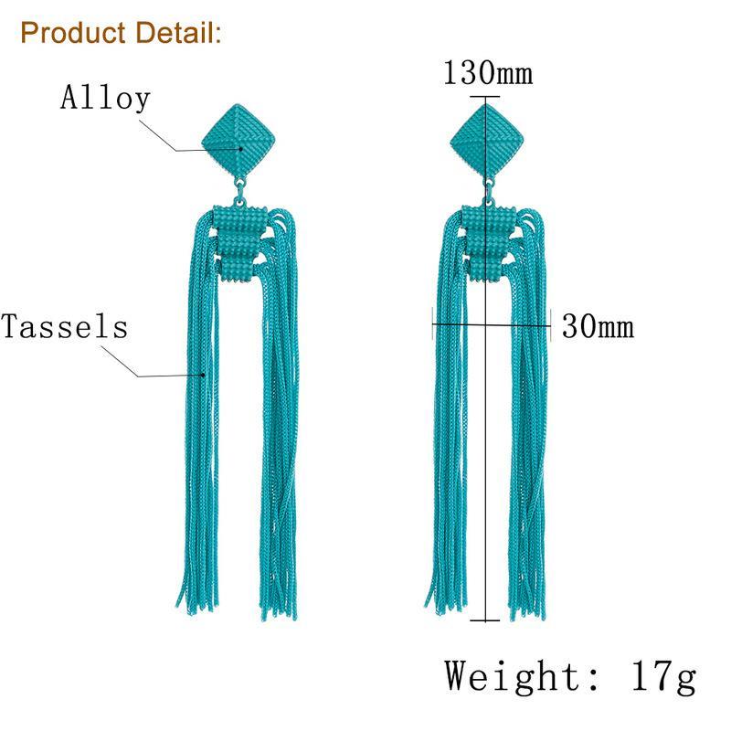 Women-Fashion-Rhinestone-Long-Tassel-Dangle-Earrings-Fringe-Drop-Jewelry-Gift-UK thumbnail 200