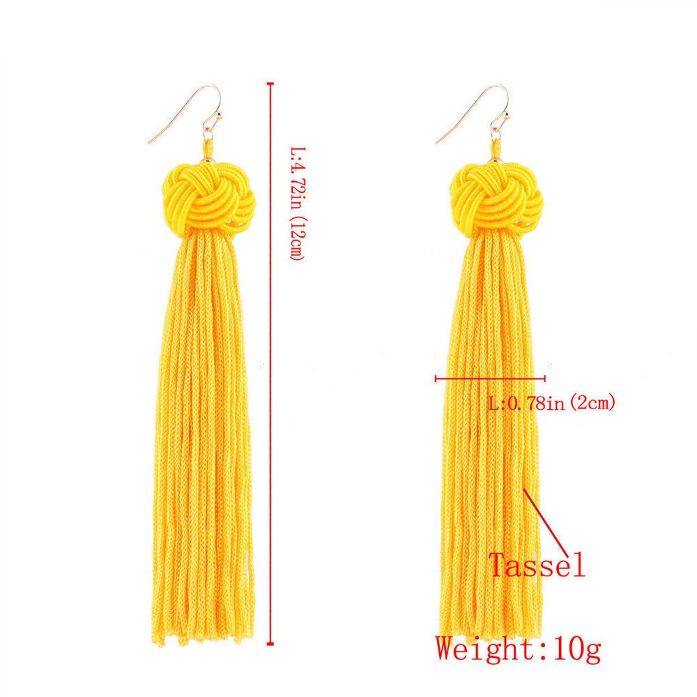 Women-Fashion-Rhinestone-Long-Tassel-Dangle-Earrings-Fringe-Drop-Jewelry-Gift-UK thumbnail 150
