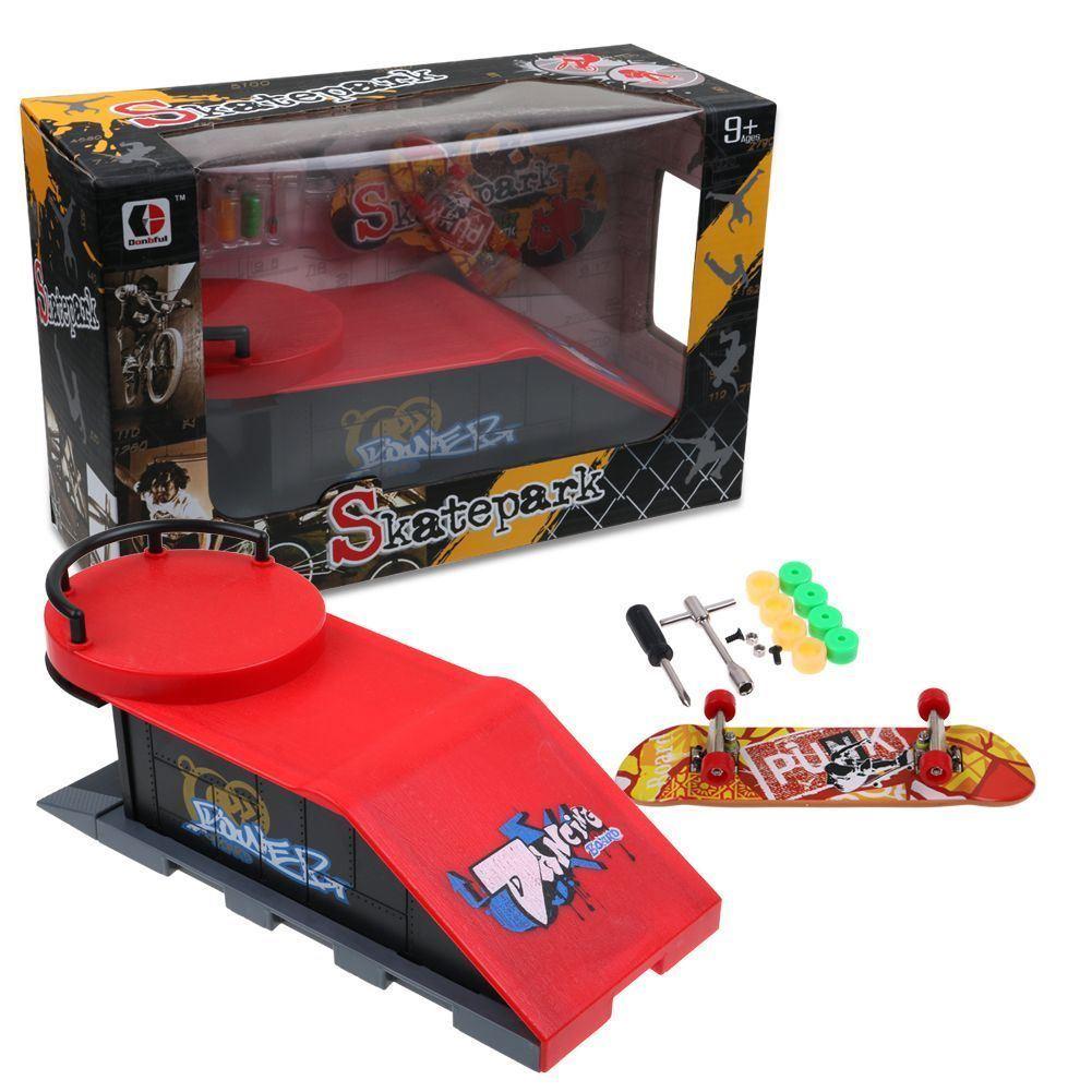 f1e176ad89d2 DIY Site Skate Park Ramp Parts Finger Board Skateboard Stair Toy ...