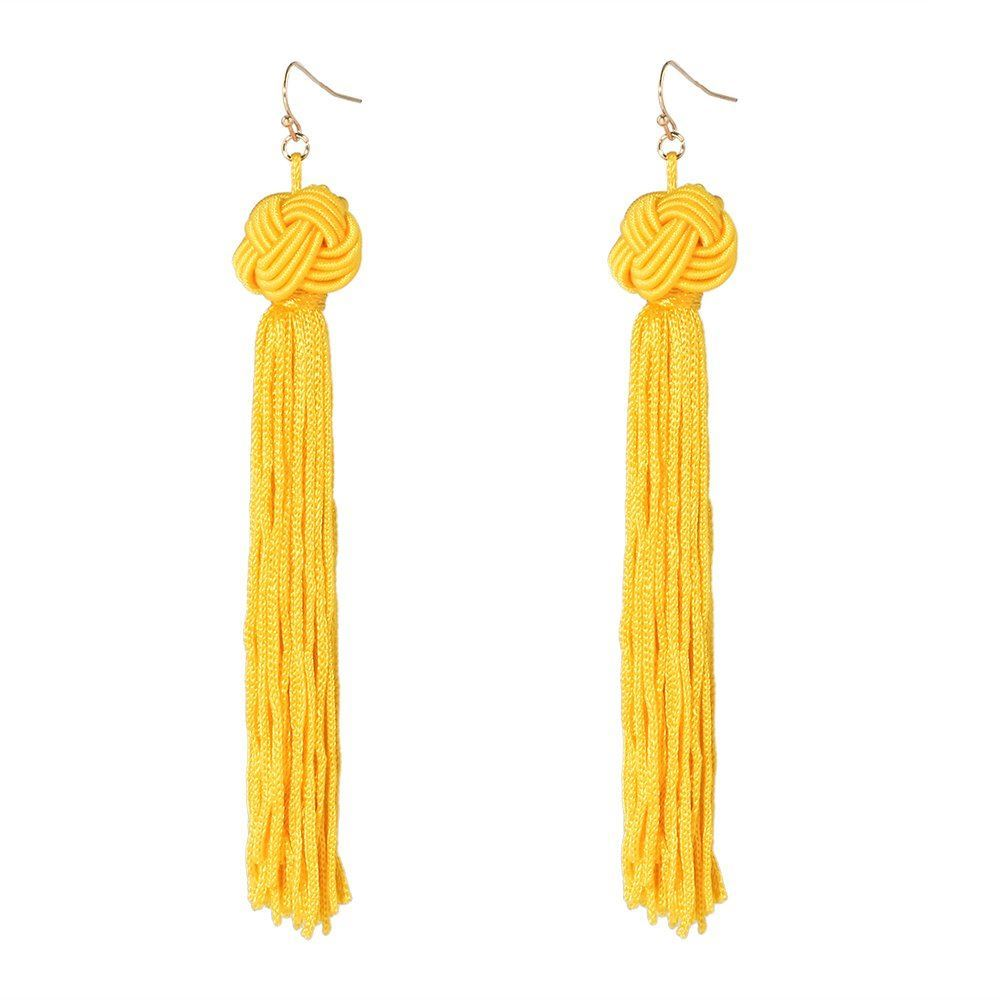 Women-Fashion-Rhinestone-Long-Tassel-Dangle-Earrings-Fringe-Drop-Gift-60-Design thumbnail 83