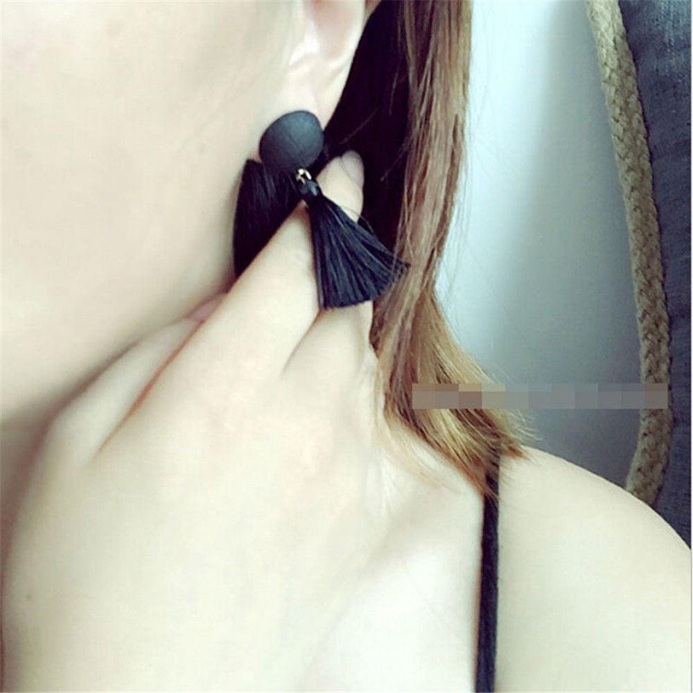 Women-Fashion-Rhinestone-Long-Tassel-Dangle-Earrings-Fringe-Drop-Jewelry-Gift-UK thumbnail 43