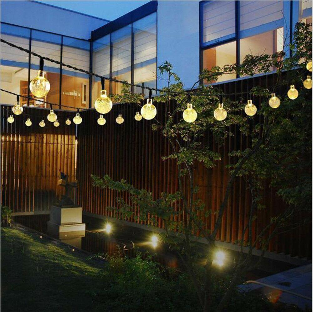 Outdoor String Lights Solar Powered Retro Bulb String Lights For Garden Outdoor Fairy Summer Lamp Uk Garden Patio Coccinelli De