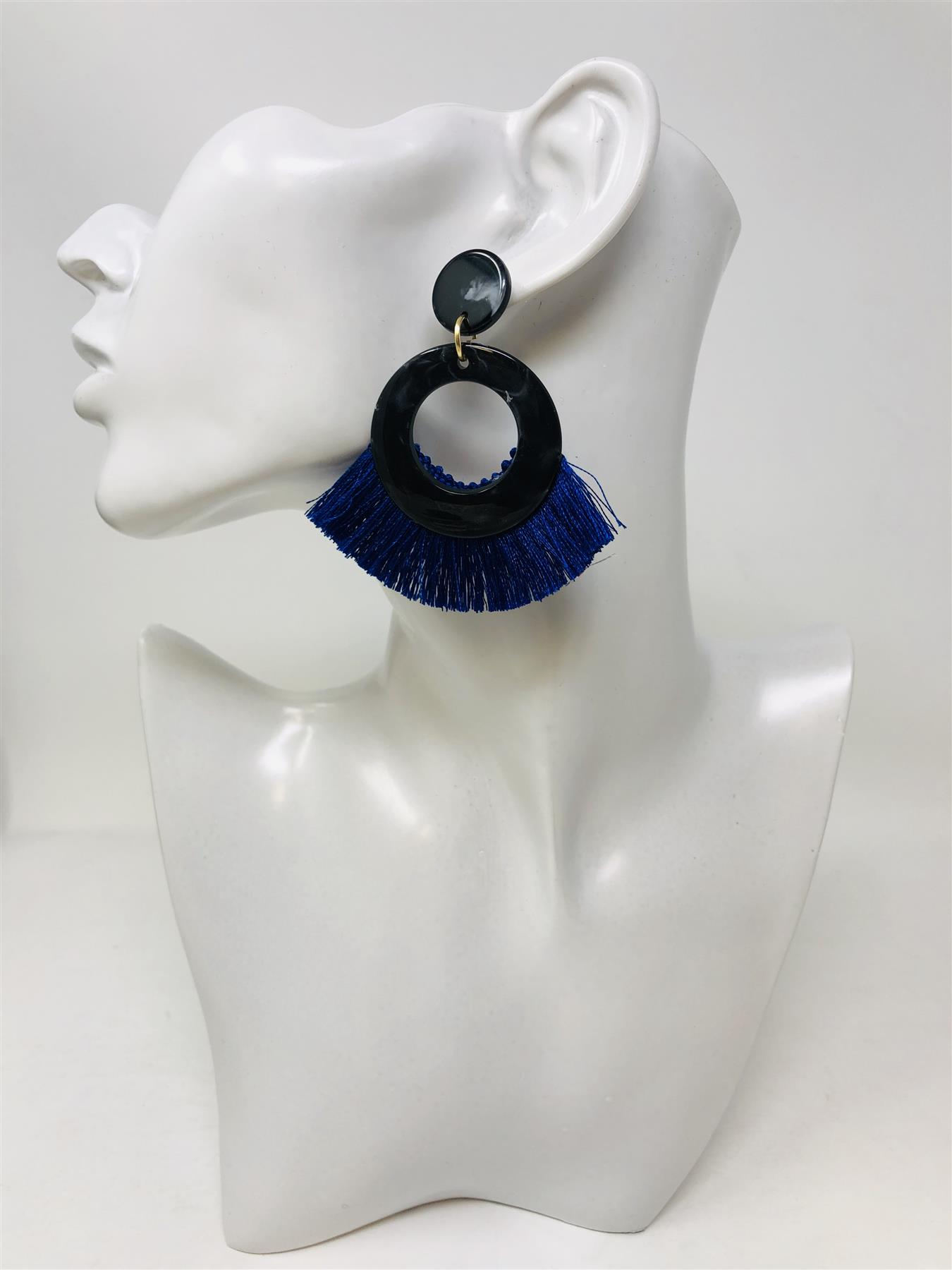 Women-Fashion-Rhinestone-Long-Tassel-Dangle-Earrings-Fringe-Drop-Jewelry-Gift-UK thumbnail 187