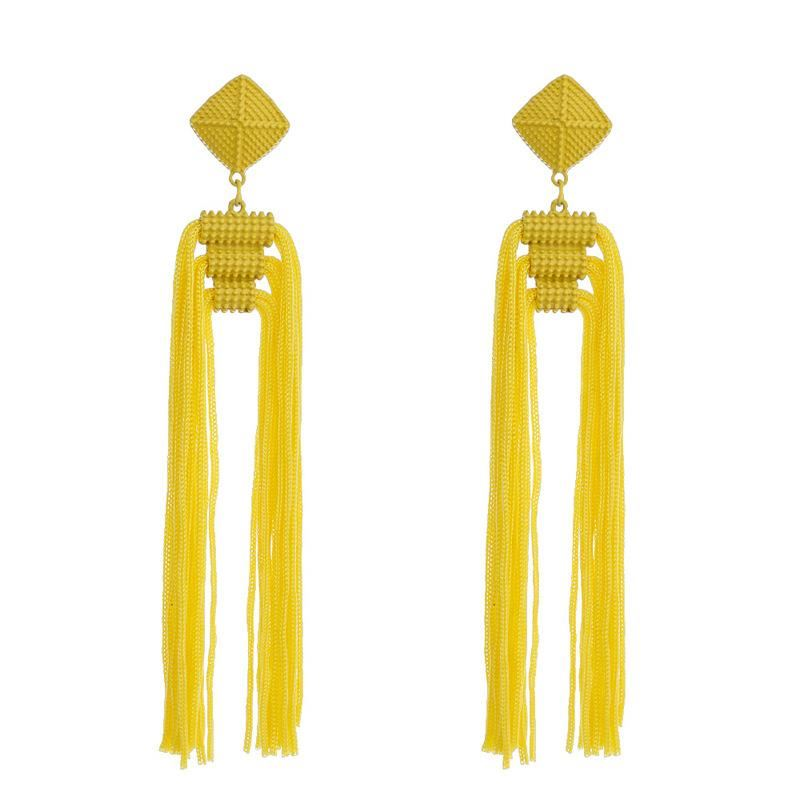 Women-Fashion-Rhinestone-Long-Tassel-Dangle-Earrings-Fringe-Drop-Gift-60-Design thumbnail 105