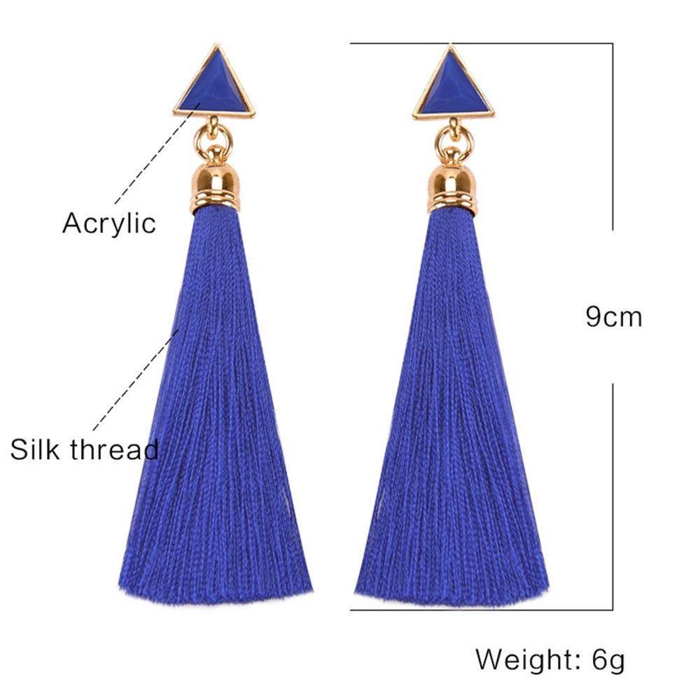 Women-Fashion-Rhinestone-Long-Tassel-Dangle-Earrings-Fringe-Drop-Jewelry-Gift-UK thumbnail 105