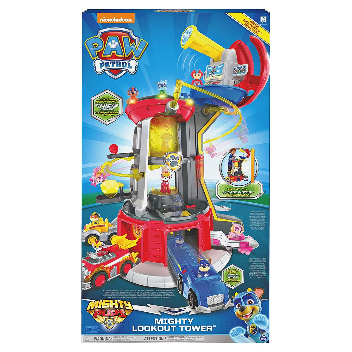 Mighty Pups Super PAWs Lookout Tower Playset with Lights and Sounds PAW Patrol