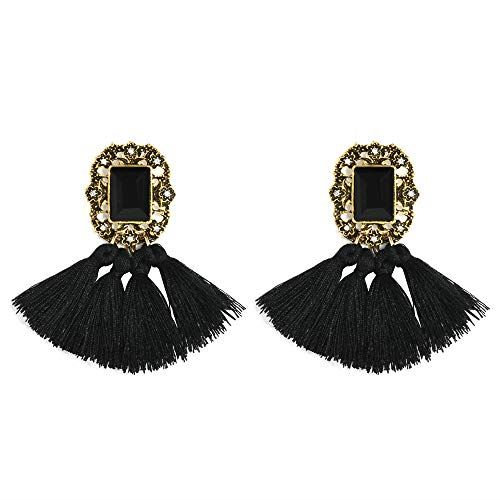 Women-Fashion-Rhinestone-Long-Tassel-Dangle-Earrings-Fringe-Drop-Gift-60-Design thumbnail 27