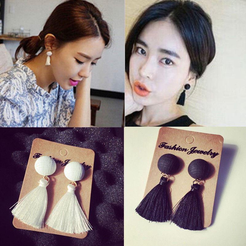 Women-Fashion-Rhinestone-Long-Tassel-Dangle-Earrings-Fringe-Drop-Jewelry-Gift-UK thumbnail 41
