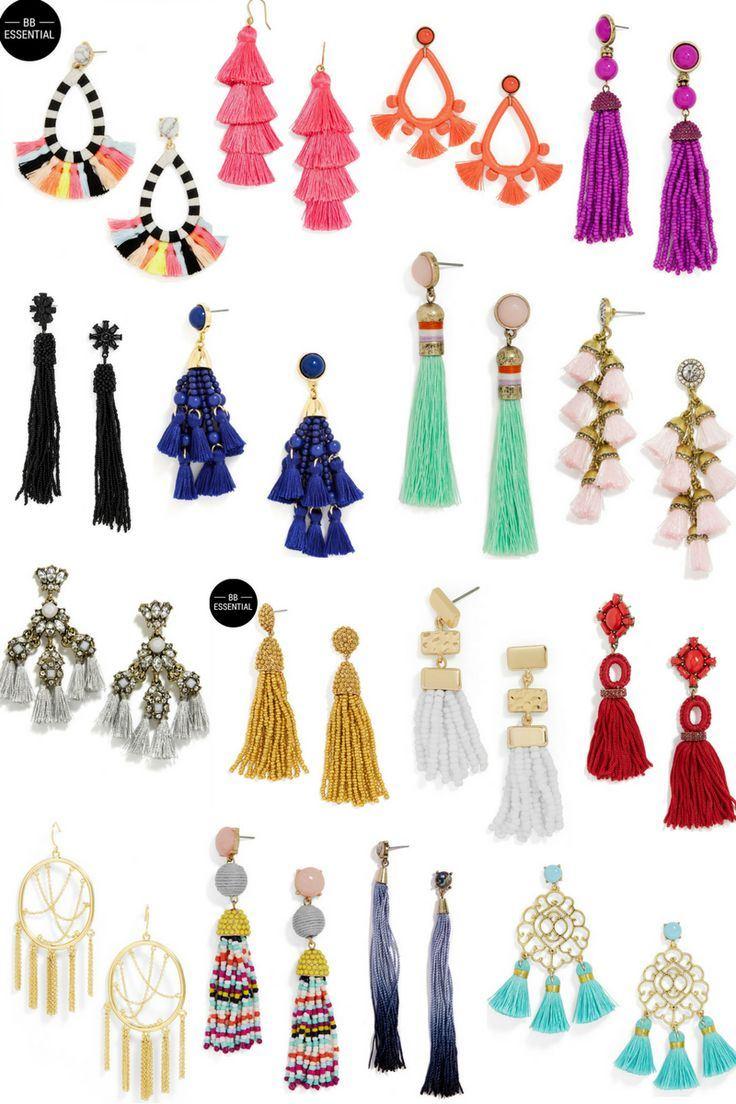Women-Fashion-Rhinestone-Long-Tassel-Dangle-Earrings-Fringe-Drop-Jewelry-Gift-UK thumbnail 19