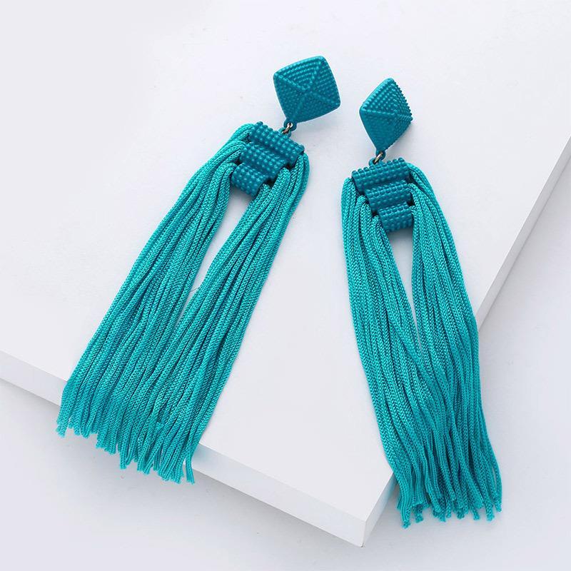 Women-Fashion-Rhinestone-Long-Tassel-Dangle-Earrings-Fringe-Drop-Jewelry-Gift-UK thumbnail 201