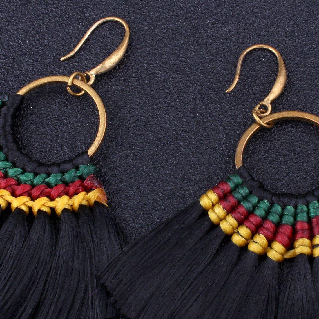 Women-Fashion-Rhinestone-Long-Tassel-Dangle-Earrings-Fringe-Drop-Jewelry-Gift-UK thumbnail 94