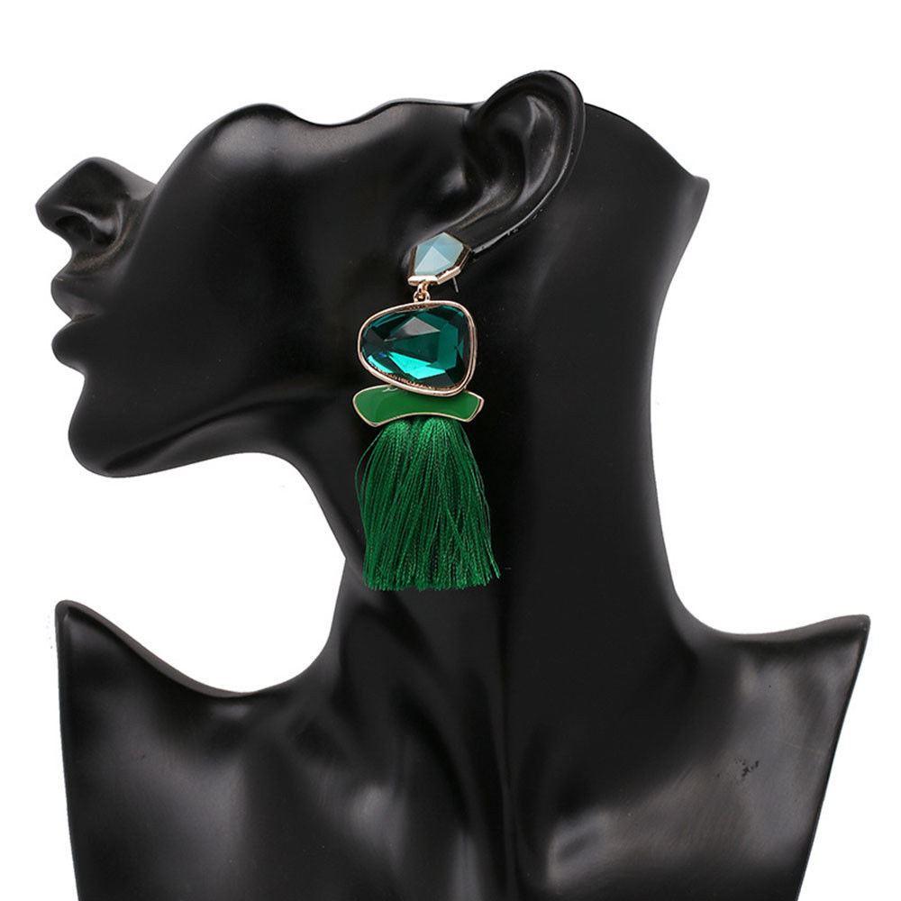 Women-Fashion-Rhinestone-Long-Tassel-Dangle-Earrings-Fringe-Drop-Jewelry-Gift-UK thumbnail 163