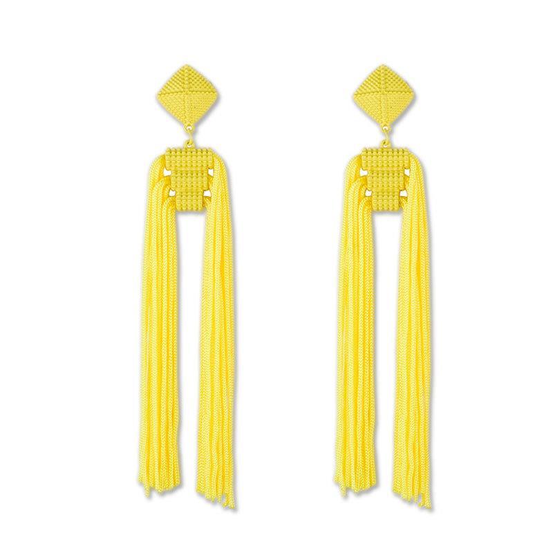 Women-Fashion-Rhinestone-Long-Tassel-Dangle-Earrings-Fringe-Drop-Jewelry-Gift-UK thumbnail 207