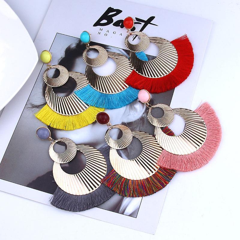 Women-Fashion-Rhinestone-Long-Tassel-Dangle-Earrings-Fringe-Drop-Jewelry-Gift-UK thumbnail 213