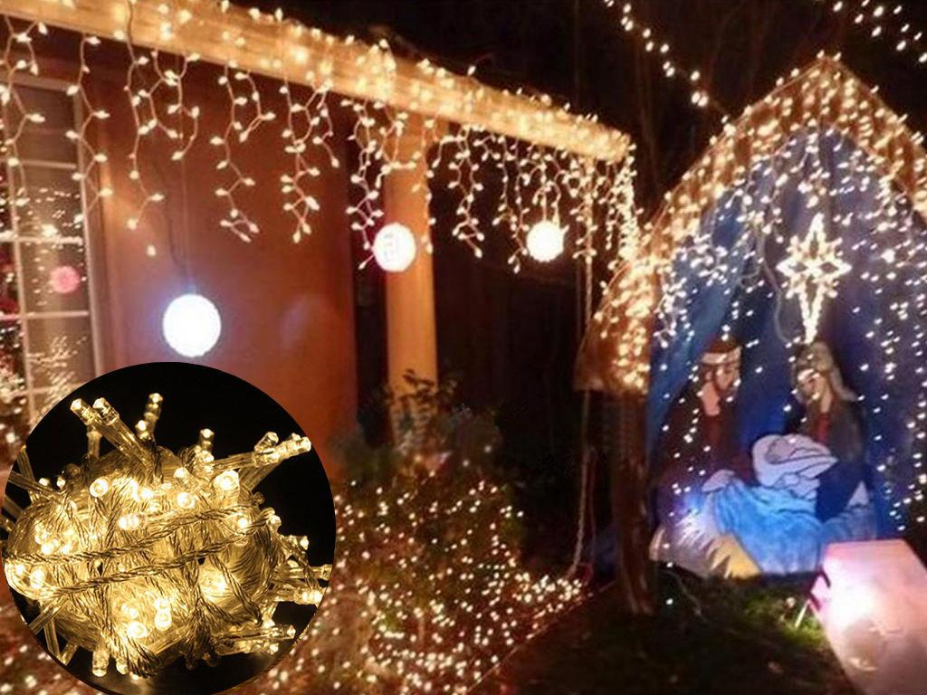 10M-100-LED-Fairy-String-Light-Lamp-Christmas-Xmas-Wedding-Christmas-Party-Decor miniatuur 19