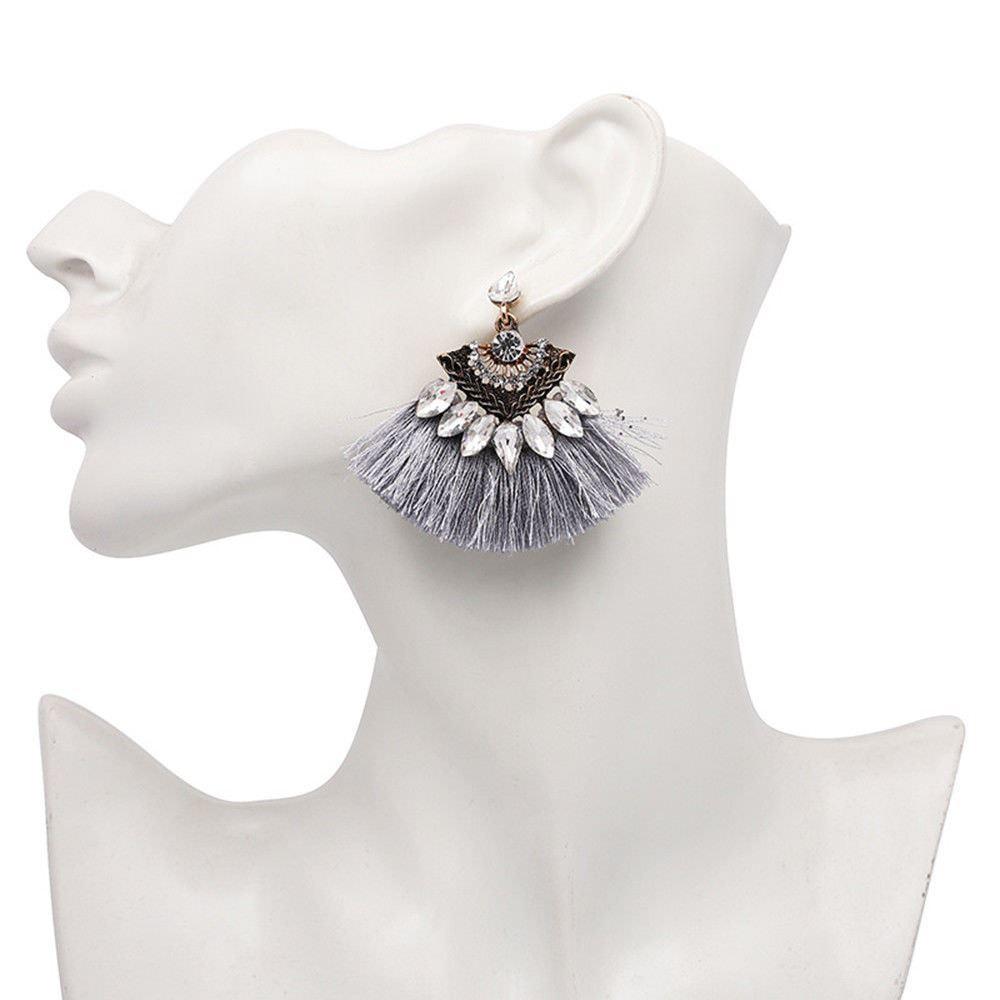 Women-Fashion-Rhinestone-Long-Tassel-Dangle-Earrings-Fringe-Drop-Jewelry-Gift-UK thumbnail 126