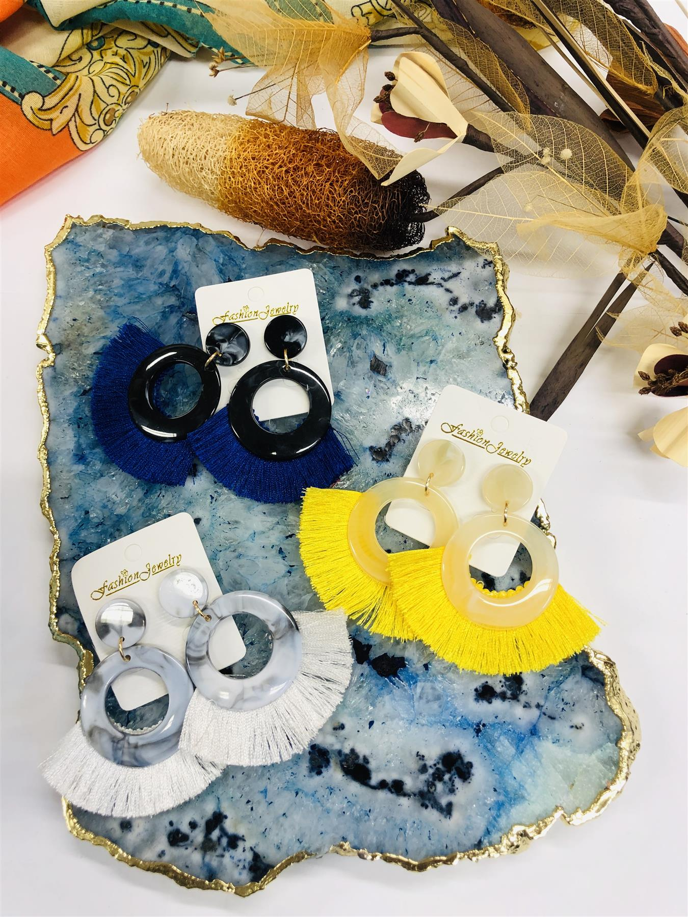 Women-Fashion-Rhinestone-Long-Tassel-Dangle-Earrings-Fringe-Drop-Jewelry-Gift-UK thumbnail 192