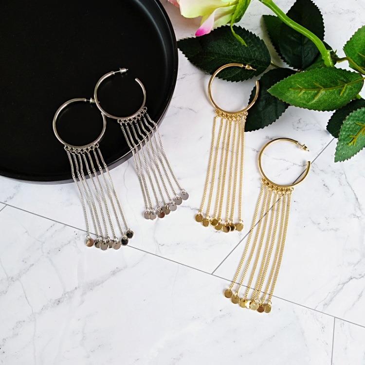 Women-Fashion-Rhinestone-Long-Tassel-Dangle-Earrings-Fringe-Drop-Jewelry-Gift-UK thumbnail 11